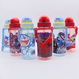 (NEW) Botol Minum Anak Karakter 350ML Dengan Sedotan