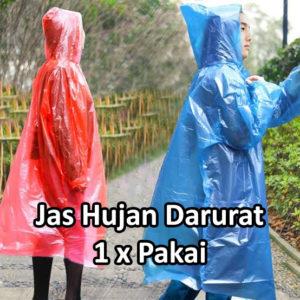 Jas Hujan Darurat Sekali Pakai