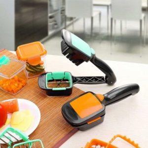 Genius Nicer Dicer 5 in 1 – Alat Pemotong Sayur dan Buah Serbaguna