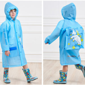 (NEW) Jas Hujan Anak Karakter Dengan Ruang Untuk Tas Ransel