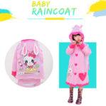 (KELINCI) Jas Hujan Anak Karakter Dengan Ruang Untuk Tas Ransel