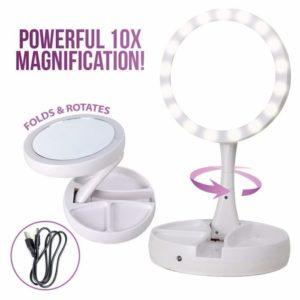 Cermin Rias Bulat LED 2 Sisi