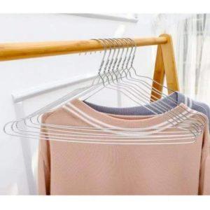 (10 Pcs) Hanger Kawat Gantungan Baju Anti Karat