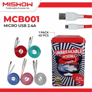 [PROMO] Kabel Data 2.4A Fast Charging MISHOW By Advance Micro USB 1 Meter
