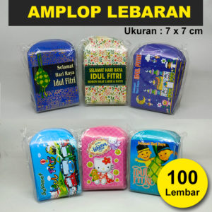(BESAR) Amplop Lebaran Idul Fitri 1 Pack isi 100 Pcs