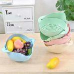 Wadah Cuci Beras / Keranjang Tiris Buah dan Sayur Multifungsi
