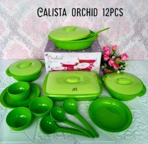 Set Perlengkapan Makan Calista Orchid 1 Set Isi 12 Pcs