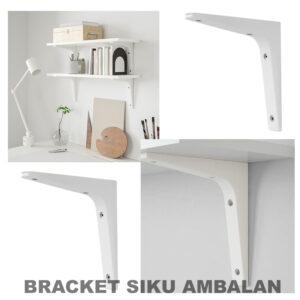 (1 Pcs) Bracket Siku Ambalan – Penyangga Rak Dinding