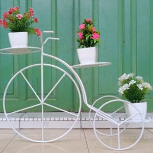 Rak Bunga Besi Model Sepeda