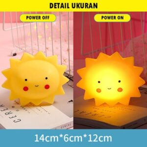 Lampu Tidur LED Karakter Matahari/Awan/Bulan/Kerang