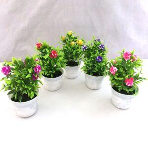 A001 Tanaman Bunga Hias Plastik + Pot