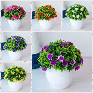 C001 Tanaman Bunga Hias Plastik + Pot