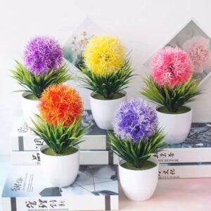 T09 Tanaman Bunga Hias SNAPDRAGON Plastik + Pot