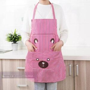 Celemek apron masak garis murah ala korea