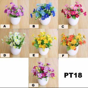 T07 Tanaman Hias Bunga Seruni Atau Bunga Matahari Plastik + Pot